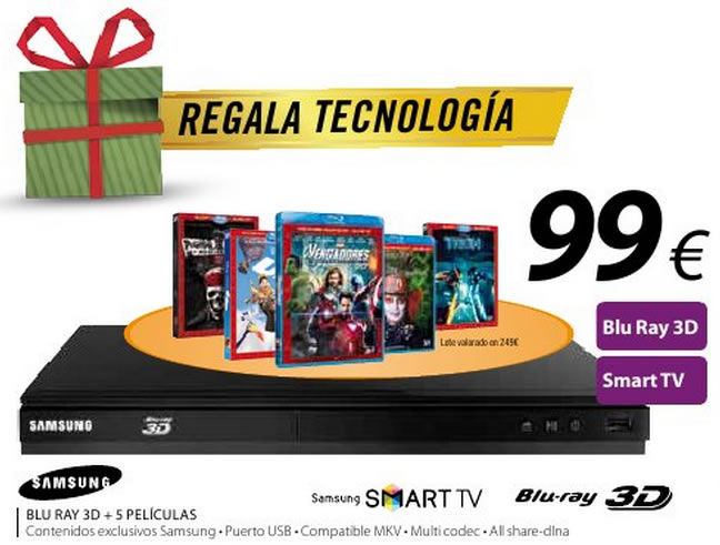 Oferta reproductor Samsung Blu-ray 3D
