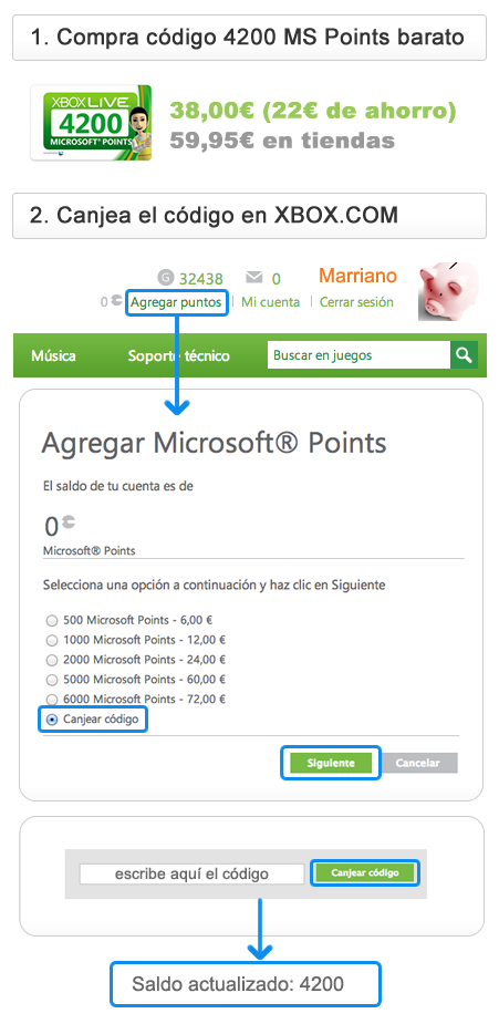 Juegos baratos puntos Microsoft