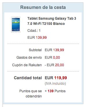 Tablet Samsung Galaxy barata