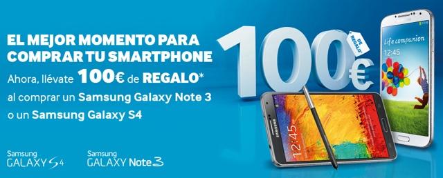 Descuento 100€ Samsung Galaxy