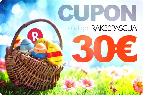 Cupón Rakuten 30 euros Pascua