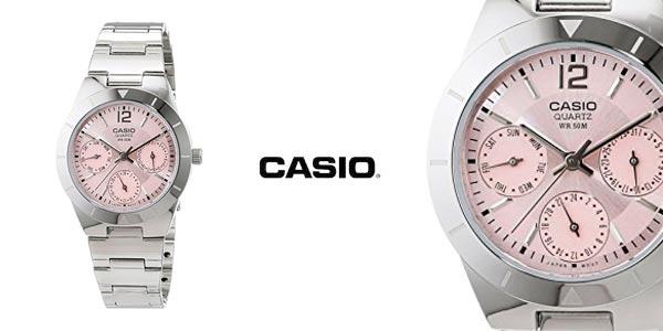 Reloj para mujer Casio Collection LTP 2069D con esfera rosa al mejor precio en Amazon