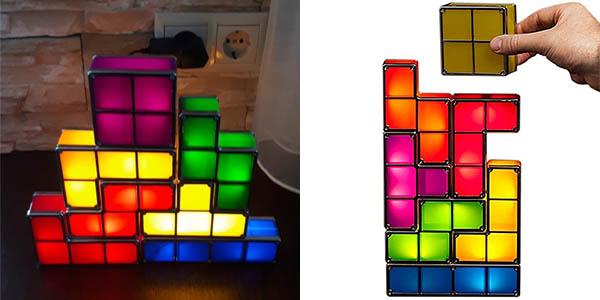 Lámpara LED decorativa con forma de Tetris en AliExpress