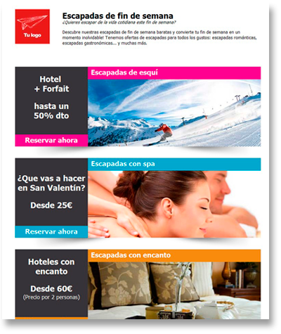 Newsletter Agencia Viajes