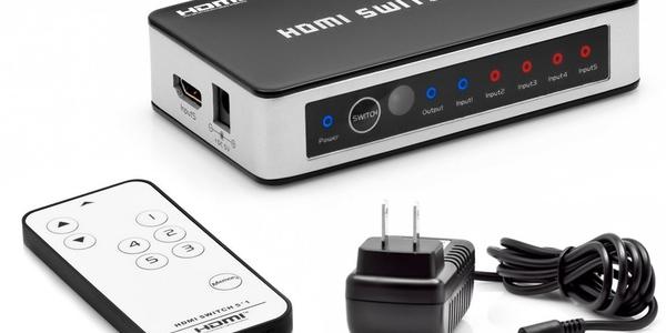 switch hdmi de 5 puertos
