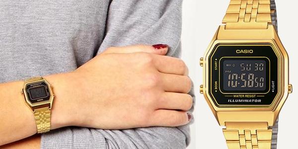 Reloj Casio dorado barato
