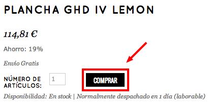 Añade la GHD al carrito de la compra