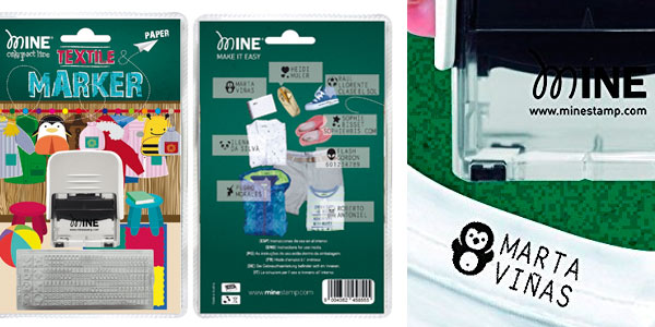 Marcador textil para ropa y libros Mine Compact barato