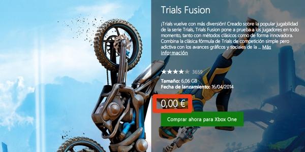 Trials Fusion Xbox One GRATIS