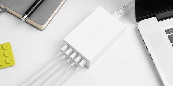 cargador pared USB 5 puertos