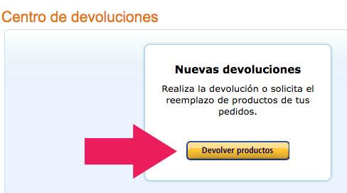 Devolver productos en Amazon