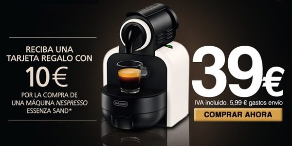 chollo cafetera Nespresso DeLonghi Essenza
