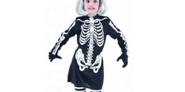 disfraz esqueleto Halloween para niña