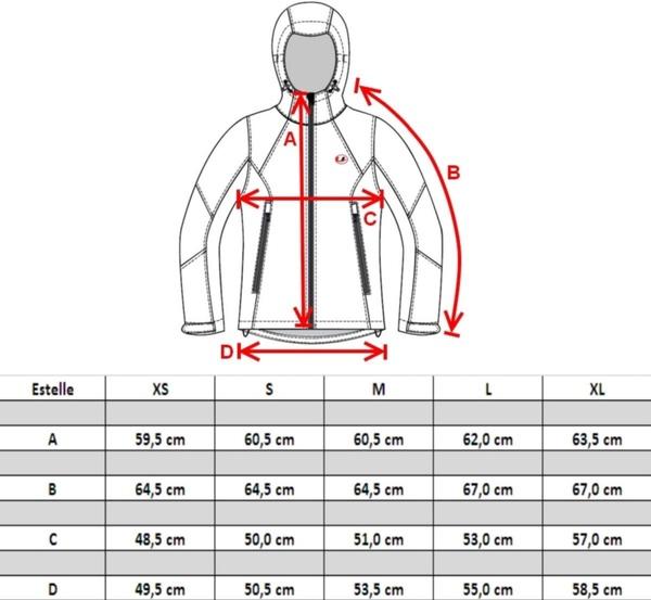 tallas chaqueta Ultrasport mujer