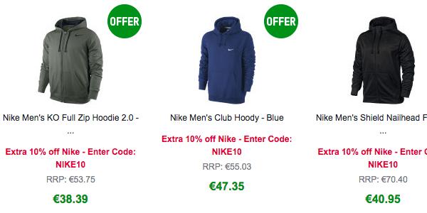 ofertas en ropa Nike barata