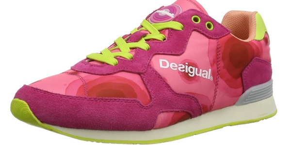 zapatillas Desigual running pink