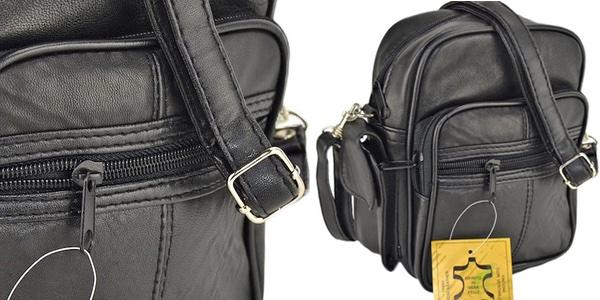 bolso bandolera cuero para hombre
