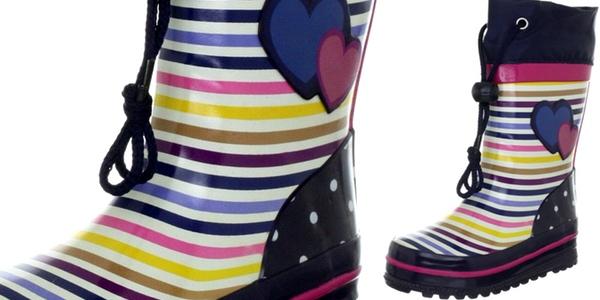 botas de agua para niña Beck Stripes