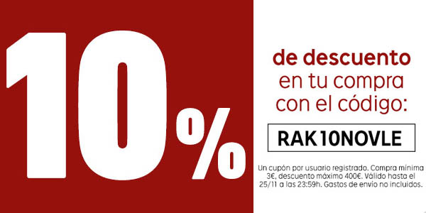 cupon rakuten Black Friday