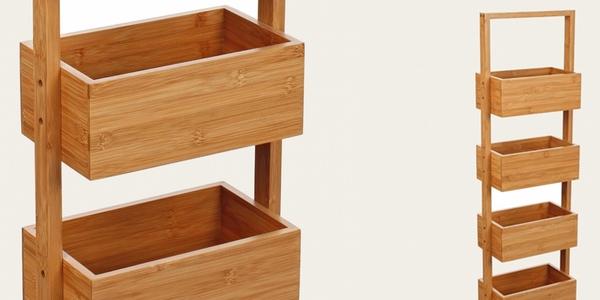 mueble estantería bambú oferta
