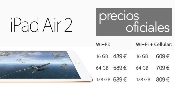 precio iPad Air 2