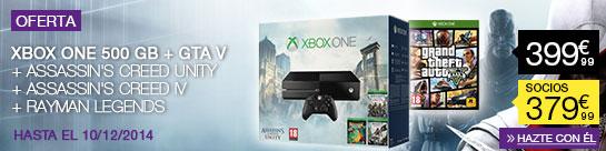 Oferta Pack Xbox One Fnac