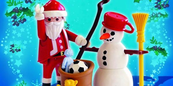 Papa Noel muñeco nieve Playmobil