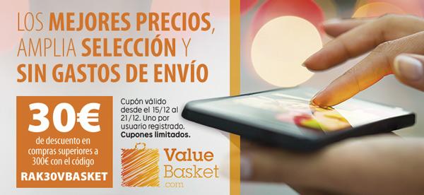 cupón descuento Value Basket