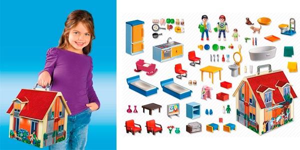 Chollo maletín casa de muñecas Playmobil Dollhouse en oferta en Amazon