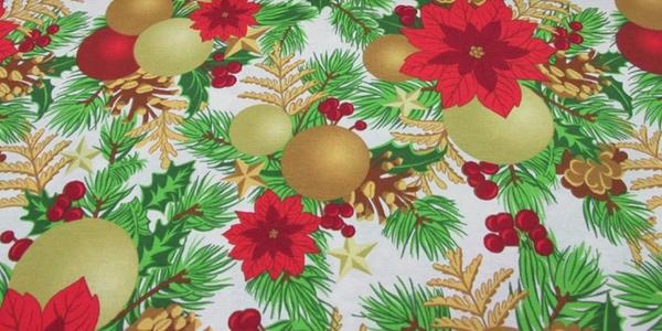 mantel loneta estampada Navidad