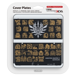 Carátula Monster Hunter 4 Negra para New Nintendo 3DS