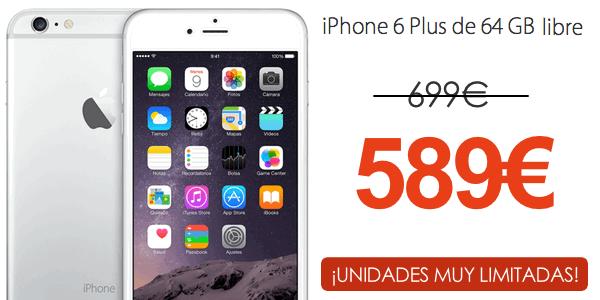 iPhone 6 Plus 64 GB barato reacondicionado