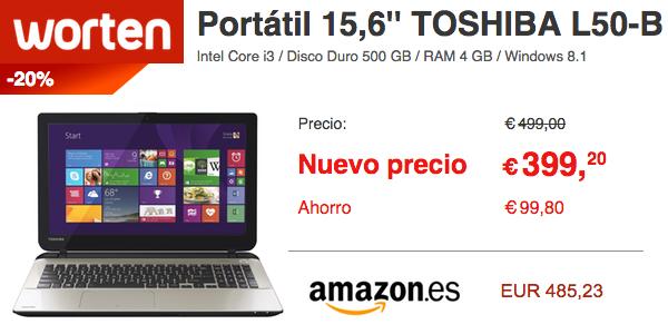 portátiles baratos Toshiba