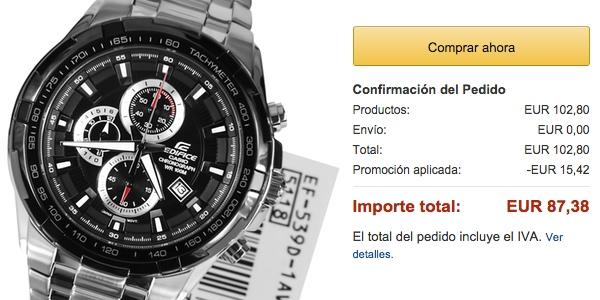 Oferta en reloj Casio Edifice