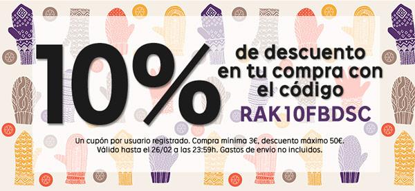 Cupón descuento 10% Rakuten
