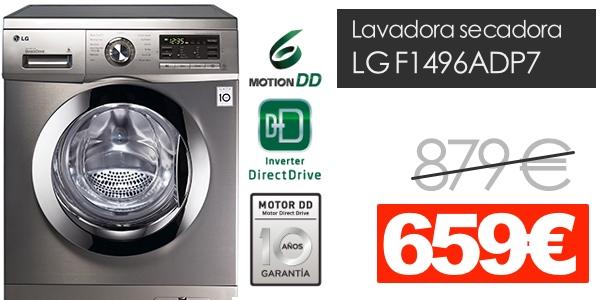 Lavadora secadora LG F1496ADP7