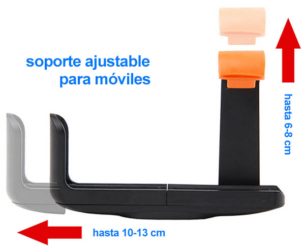 Soporte ajustable para moviles