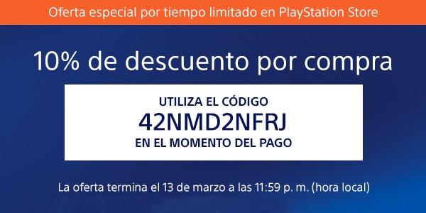 Cupón descuento Playstation Store