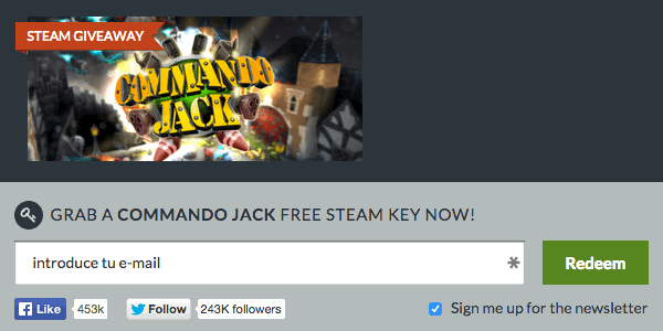 Commando Jack gratis Steam