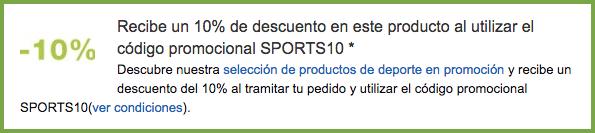 SPORTS10 cupón Amazon.es