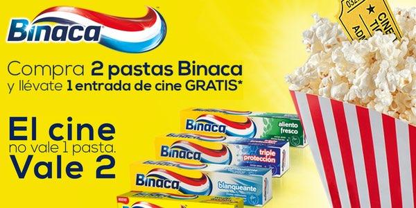 entrada de cine gratis Binaca