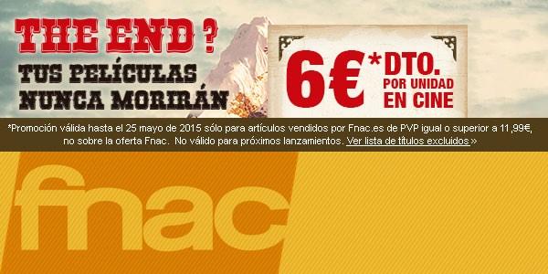 6€ descuento Fnac Cine