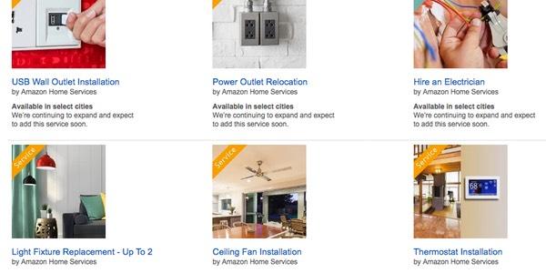 Categorías Amazon Home Services