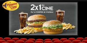 Entradas de cine 2x1 McDonalds
