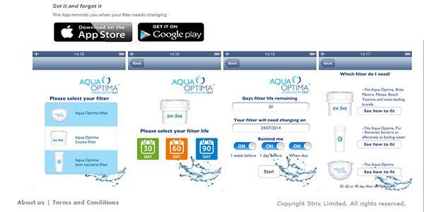 App móvil Aqua Optima