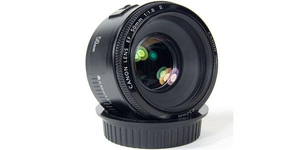 Objetivo Canon EF 50mm f/1.8 II en Amazon
