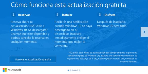 ventana de actualización a Windows 10