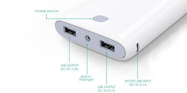 Batería con doble USB