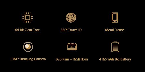 Características del Elephone P8000