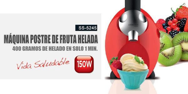 máquina postre fruta helada
